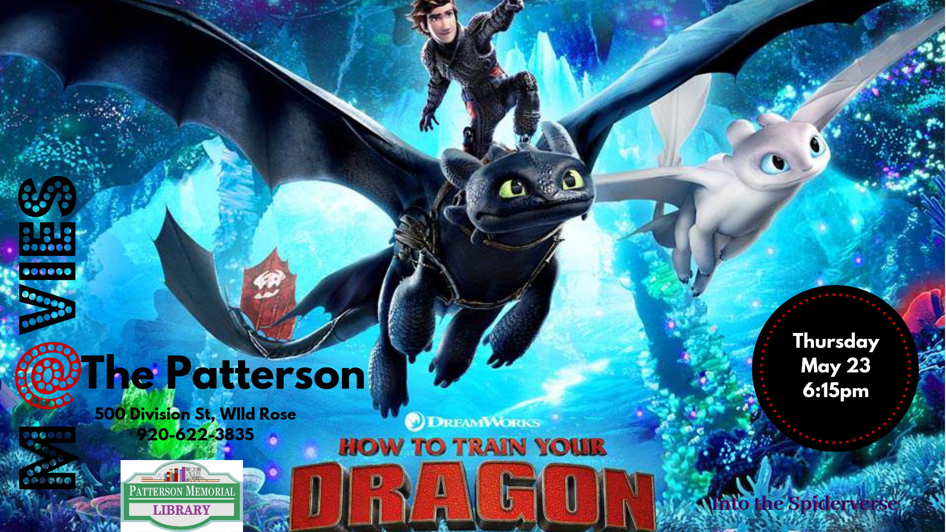 How To Train Your Dragon The Hidden World Patterson Memorial Public Library