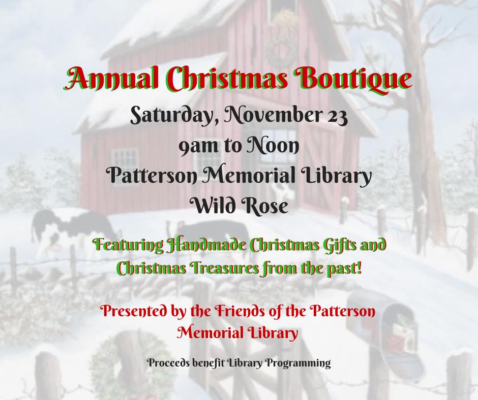 FPML Annual Christmas Boutique sale